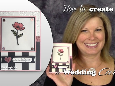 How to create a shimmer Wedding. Engagement Card featuring Stampin Up
