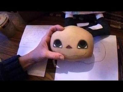 How to create a smokey eye effect on a cloth doll