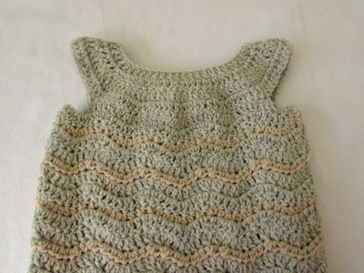 How to crochet a baby. girl's chevron dress tutorial