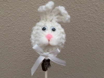 How To Crochet An Easter Bunny Lollipop, Lilu's Knitting Corner Video # 68