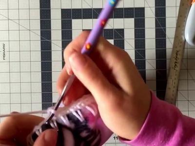 How to Crochet around Fleece Fabric using the Skip Stitch Blade