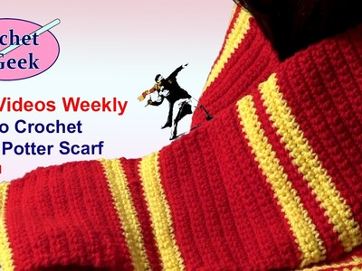 How to Crochet Harry Potter Scarf Left Hand