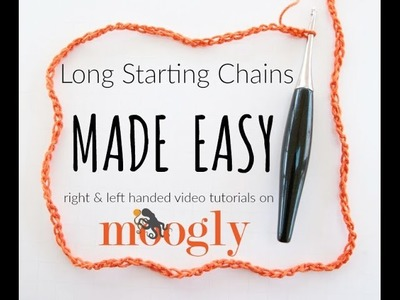 How to Crochet: Long Starting Chains Made Easy (Left Handed)
