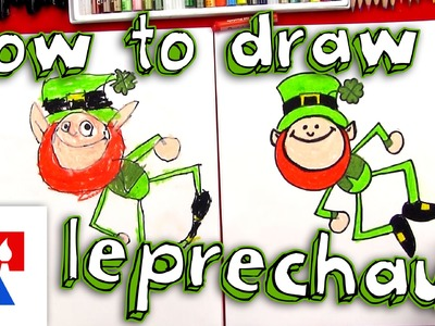 How To Draw A Cartoon Leprechaun