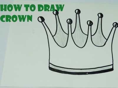 how to draw a crown easy