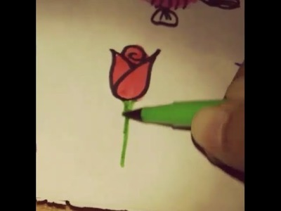 How to draw a rose and many more using DIY thumb print art