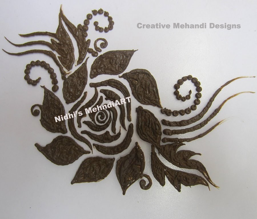 Rose Flower Mehndi Design Flowers Healthy