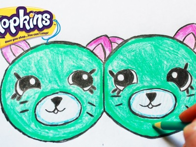 "How to Draw Shopkins Season 4 ""Earring Twins"" Petkins Step By Step Easy 