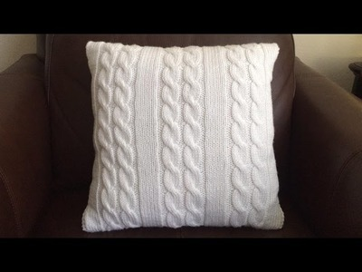 How To Knit  A Cable Pillow, Lilu's Knitting Corner Video # 64