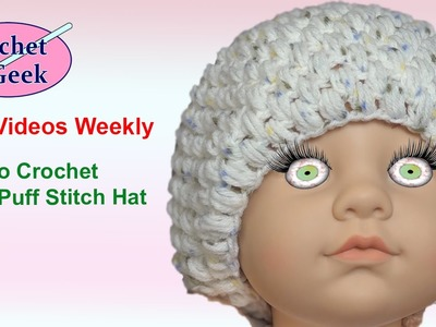 How to make a Crochet Baby Puff Stitch Hat Part 1