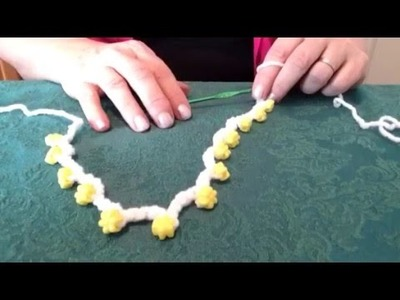 How to make a crochet beaded necklace.