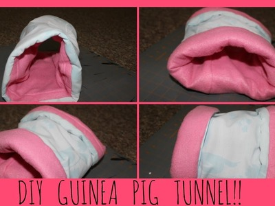 How To Make a Guinea Pig Tunnel | DIY Guinea Pig Tunnel | Small Animal Tunnel!