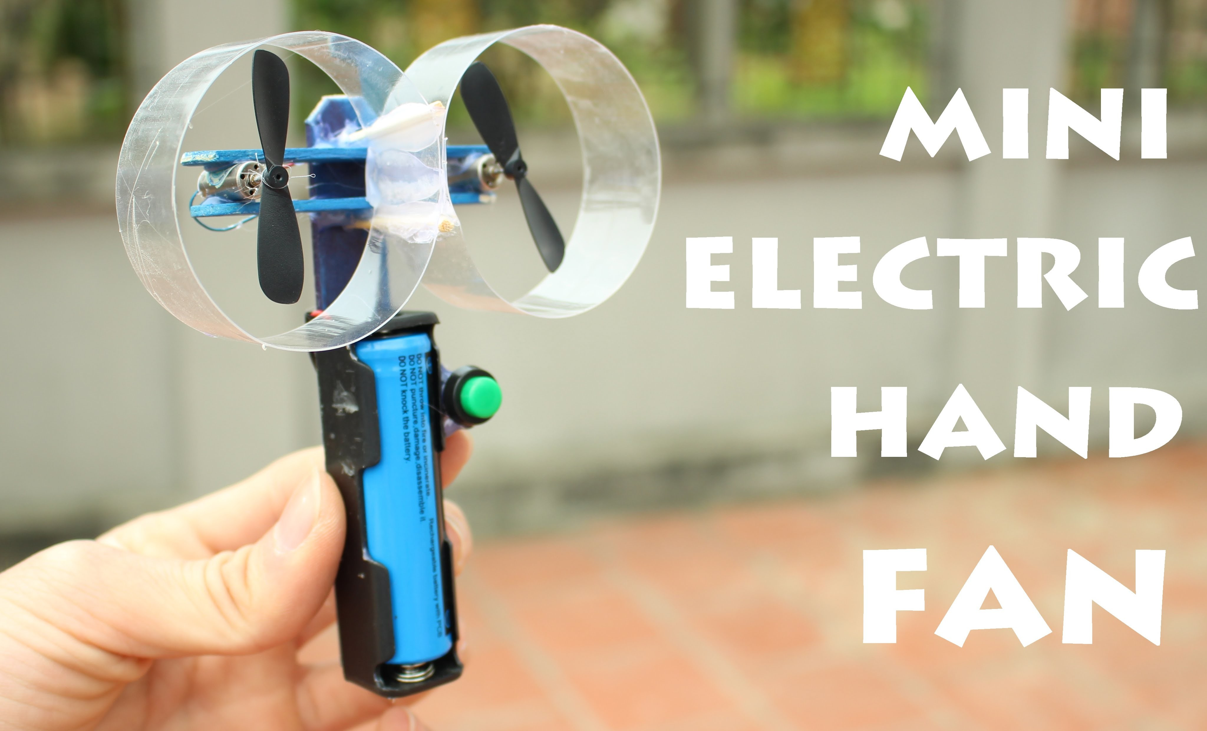 How to make a Mini Electric Hand Fan