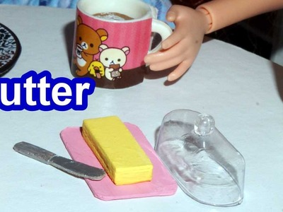How to make a miniature doll butter for Barbie, Monster High, Frozen.  *EASY*