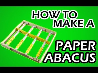 How to make a paper abacus easy