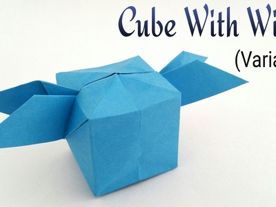 "How to make a paper ""Inflated Cube with wings. Satellite "" - Variation  - Origami Tutorial"