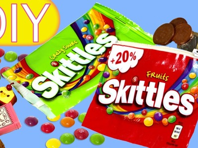 How to make a Skittles purse and a Surprise bag. #Skittlescrafts