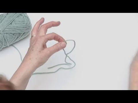 How to make a Slip Knot.Slip Stitch: Beginner's Knitting Tutorial with Fiona Goble Lesson 1