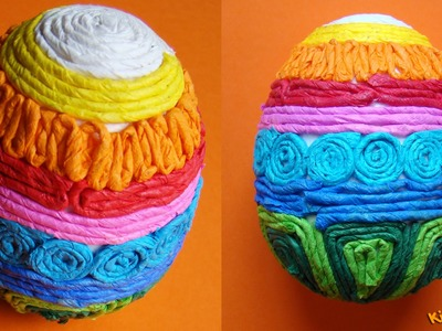 How to make a Tissue Paper Easter Eggs? DIY