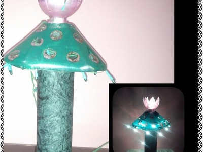 How to make bed lamp with waste materials
