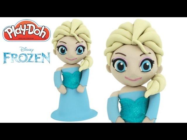 How to Make Disney Frozen Elsa 3D with Play Doh Playdough DIY RainbowLearning