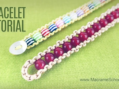 How to make Easy Beaded Bracelet (DIY) Macrame School
