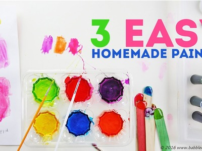 How to Make Paint: 3 Easy Homemade Paints | CREATIVE BASICS Episode 4