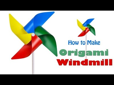 How to Make Paper Windmill | Creative Origami Art Work | Easy Crafting Steps