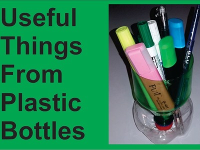 How To Make Useful Things From Plastic Bottles | One Great Idea ( Do It Yourself)
