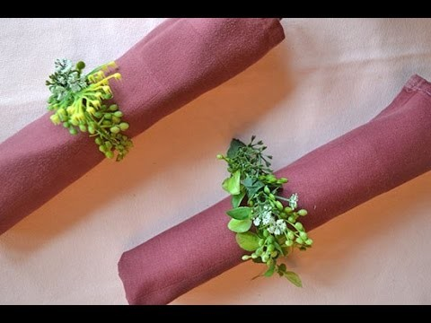 How to Make Your Own Decorative Floral Napkin Rings