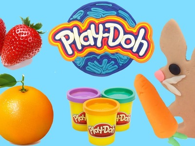 How To | Play-Doh Easter Bunny - Strawberries - Oranges