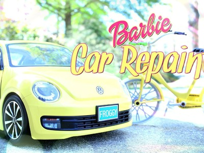 How to Repaint a Barbie Car -  Custom Repaint - Doll Crafts