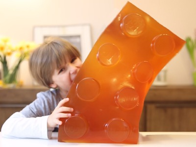 Huge Gummy Lego Block - WORLD's LARGEST GUMMY DIY