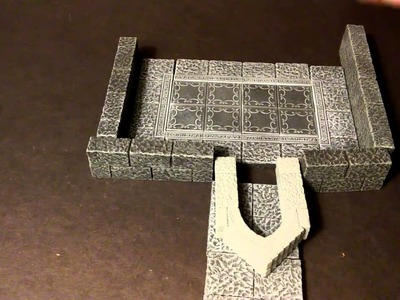 Ideas for Dungeon Walls and How to Build them with Hirst Arts Molds - Terrain and Tiles 1