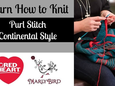 Learn how to Purl Stitch Continental Style