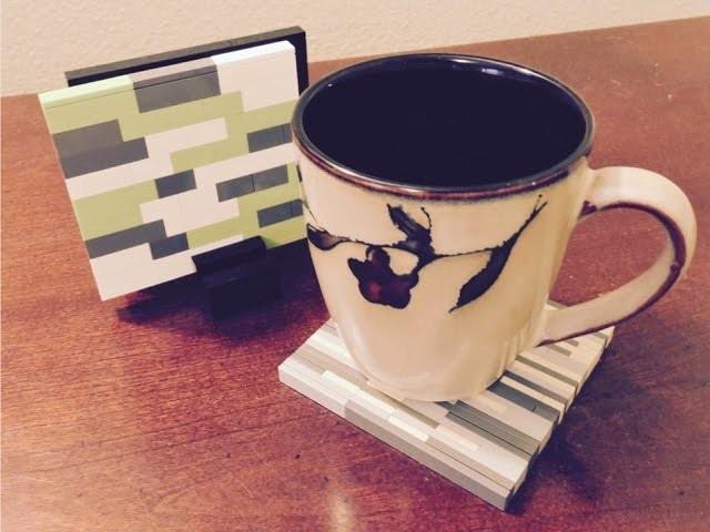 LEGO DIY Coffee Coasters  - Tutorial