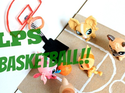 LPS DIY How to make a miniature basketball hoop and basketball