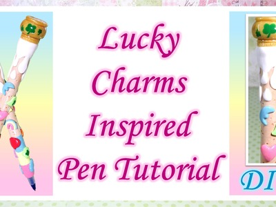 Lucky Charms Inspired Pen Tutorial: Polymer Clay DIY