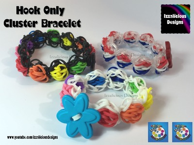 Rainbow Loom Cluster Bracelet -  Very easy hook only bracelet using a crochet cluster stitch