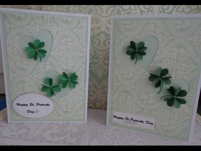St  Patricks day card~how to make a 3D clover