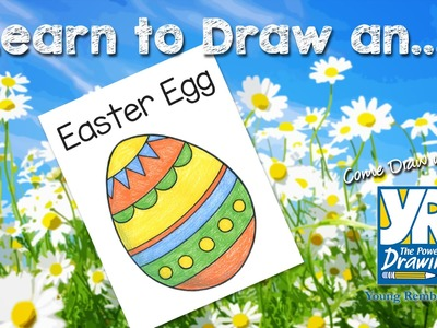 Teaching Kids How to Draw: How to Draw an Easter Egg