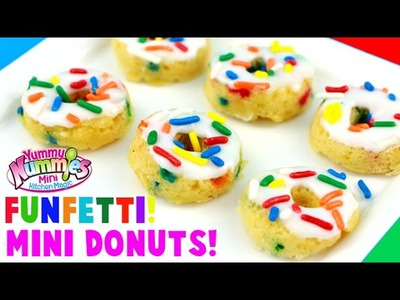 Yummy Nummies HACK! How to Make Funfetti Sprinkle Mini Donuts from the Donut Delights Maker!