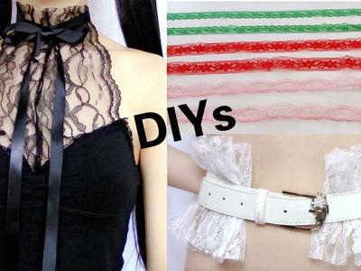 3 Creative Lace DIYs: DIY Lace Halter Top + DIY Lace Shoelace + DIY Lace Belt+Review