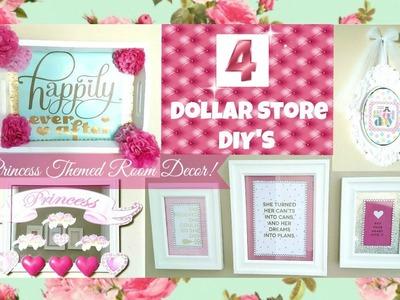 4 Girly Princess Room Decor Ideas! DOLLAR STORE DIY'S!!!