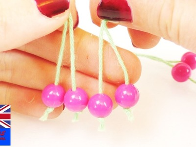 Beads Jewelry making   How to make these cherries with beads for kids
