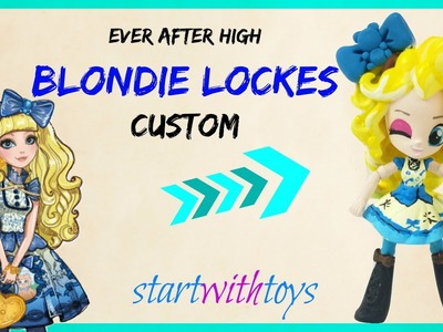 Blondie Lockes Ever After High Custom DIY MLP My Little Pony Equestria Girls Minis Pinkie Pie