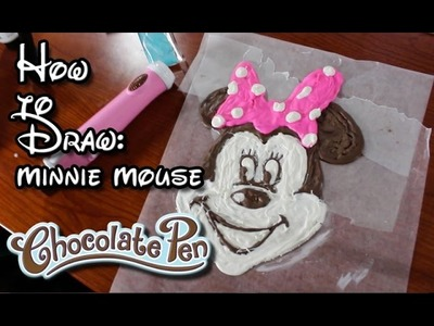 Chocolate Pen | How to Draw with Chocolate | Mickey Mouse Minnie Mouse