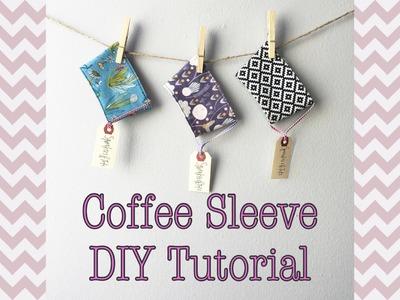 Coffee Cozy DIY Sewing Tutorial