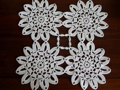 Crochet Flower Motif Tutorial Part 2