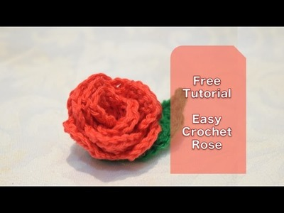Crochet flower tutorial for beginners